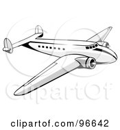 Royalty Free RF Clipart Illustration Of A Commercial Airplane In Flight 29