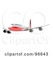 Royalty Free RF Clipart Illustration Of A Commercial Airplane In Flight 30
