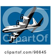 Royalty Free RF Clipart Illustration Of A Commercial Airplane In Flight 32