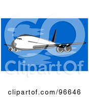 Royalty Free RF Clipart Illustration Of A Commercial Airplane In Flight 33