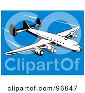 Royalty Free RF Clipart Illustration Of A Commercial Airplane In Flight 34
