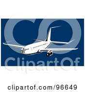 Royalty Free RF Clipart Illustration Of A Commercial Airplane In Flight 36