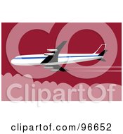 Royalty Free RF Clipart Illustration Of A Commercial Airplane In Flight 38