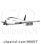 Commercial Airplane In Flight 42