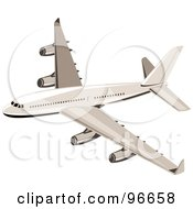 Royalty Free RF Clipart Illustration Of A Commercial Airplane In Flight 43