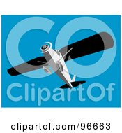 Royalty Free RF Clipart Illustration Of A Low Angle View Of A Small Airplane In A Blue Sky