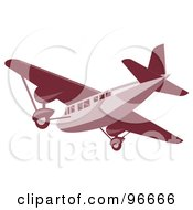 Royalty Free RF Clipart Illustration Of A Red Airplane