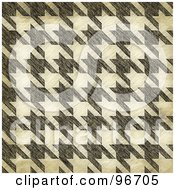 Royalty Free RF Clipart Illustration Of A Grungy Textured Seamless Houndstooth Patterned Background