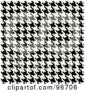 Royalty Free RF Clipart Illustration Of A Tight Black And White Houndstooth Pattern Texture Background by Arena Creative