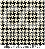Royalty Free RF Clipart Illustration Of A Cream And Black Tight Seamless Houndstooth Pattern Background by Arena Creative