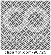 Royalty Free RF Clipart Illustration Of A Light Silver Diamond Plate Texture Background