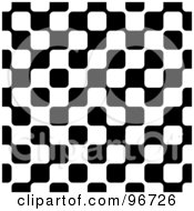 Royalty Free RF Clipart Illustration Of A Black And White Geometric Square Pattern Background