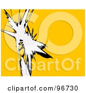 Royalty Free RF Clipart Illustration Of A Yellow Background With Funky White And Black Markings