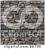 Royalty Free RF Clipart Illustration Of A Seamless Cobblestone Brick Pattern