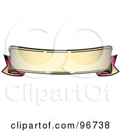 Royalty Free RF Clipart Illustration Of A Bottom Curved Red And Tan Blank Banner Tattoo Design