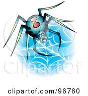 Black Widow Spider On A Web Tattoo Design