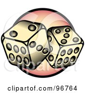 Royalty Free RF Clipart Illustration Of A Pair Of Dice With 7 Tattoo Design by Andy Nortnik