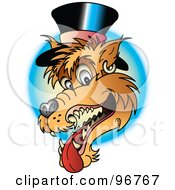 Wolf Wearing A Top Hat Tattoo Design