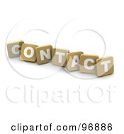 Royalty Free RF Clipart Illustration Of 3d Tan Blocks Spelling Contact by Jiri Moucka