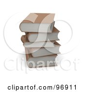 3d Stack Of Brown Books