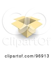 Royalty Free RF Clipart Illustration Of A 3d Open Empty Cardboard Box