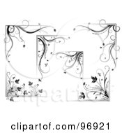Royalty Free RF Clipart Illustration Of A Digital Collage Of Floral Corner Design Elements