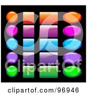Digital Collage Of Shiny Colorful Website And App Icon Buttons 3