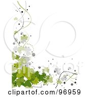 Royalty Free RF Clipart Illustration Of A Border Of Shamrocks And Waves Over White