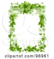 Royalty Free RF Clipart Illustration Of A Vertical St Patricks Day Border Of Green Shamrocks And Text Space