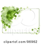 Royalty Free RF Clipart Illustration Of A St Patricks Day Border Of Green Shamrocks With Text Space