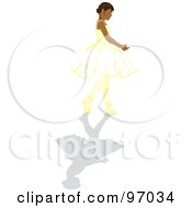 Royalty Free RF Clipart Illustration Of A Hispanic Ballerina Girl Walking In A Tutu