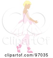 Royalty Free RF Clipart Illustration Of A Blond Ballerina Girl Dancing by Pams Clipart