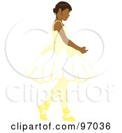 Royalty Free RF Clipart Illustration Of A Hispanic Ballerina Girl Dancing
