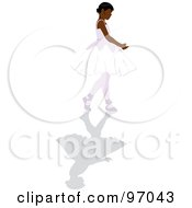 Royalty Free RF Clipart Illustration Of A Black Ballerina Girl Walking In A Tutu