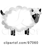 Royalty Free RF Clipart Illustration Of A Fluffy Sheep With Thick Wool