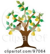Royalty Free RF Clipart Illustration Of A Brown Partridge Bird In A Pear Tree
