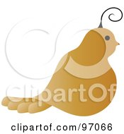 Royalty Free RF Clipart Illustration Of A Profile Of A Golden Partridge by Pams Clipart