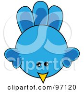 Royalty Free RF Clipart Illustration Of A Blue Chick From Above by Pams Clipart