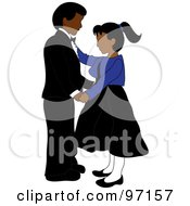 Royalty Free RF Clipart Illustration Of An Indian Boy And Girl Dancing Together