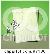 Royalty Free RF Clipart Illustration Of Seedling Plants By A Piece Of Paper Over Green by NL shop