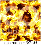 Royalty Free RF Clipart Illustration Of A Fiery Flames Background by Michael Schmeling