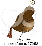 Royalty Free RF Clipart Illustration Of A Profile Of A Brown Partridge by Pams Clipart