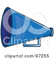 Royalty Free RF Clipart Illustration Of A Blue Cheerleading Megaphone