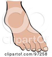Royalty Free RF Clipart Illustration Of A Womans Foot With Nude Toenails by Pams Clipart