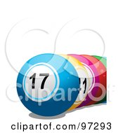 Royalty Free RF Clipart Illustration Of A Row Of Colorful Lottery Balls