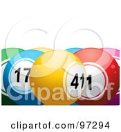 Royalty Free RF Clipart Illustration Of Colorful Lottery Balls Yellow 41 In The Front