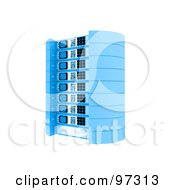 Royalty Free RF Clipart Illustration Of A 3d Blue Server Rack
