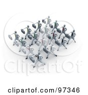 Royalty Free RF Clipart Illustration Of 3d Business People Doing Training Together In A Group by 3poD