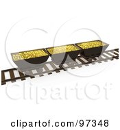 3d Gold Mining Bins On A Track
