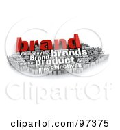 Royalty Free RF Clipart Illustration Of A 3d Red And White Branding Word Collage by MacX #COLLC97375-0098